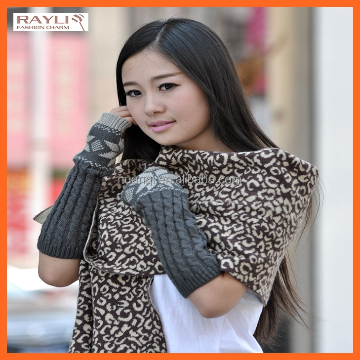New styles fashion one finger 100% acrylic cable knitted arm warmers for womens