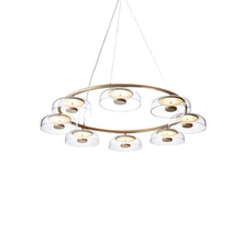 Zhongshan supplier traditional suspended light glass gold pendant lamp