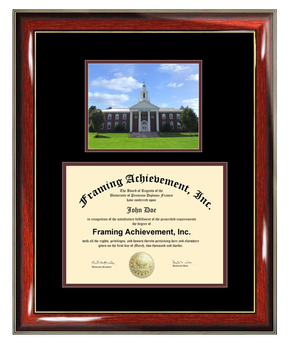 Babson College Diploma Frame - Babson Graduation Degree Frame - Matted Campus College Photo Graduation Certificate Plaque University Framing Graduate Gift Collegiate
