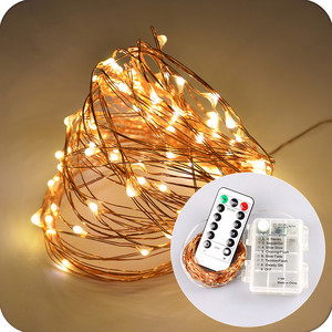 IP65 Waterproof Battery Box LED Garden String Lights 10m 3*AA battery box operated holiday decorative