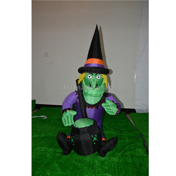 Halloween Cartoon Witch Face.Green Face Witch Holding Cauldron Make Soup Inflatable Halloween Cartoon Character Balloons Buy Cartoon Character Balloons Life Size Cartoon