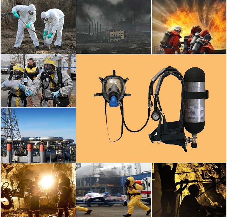 New 3C Air Breathing Apparatus With Wireless Communication Device For Fire Fighting