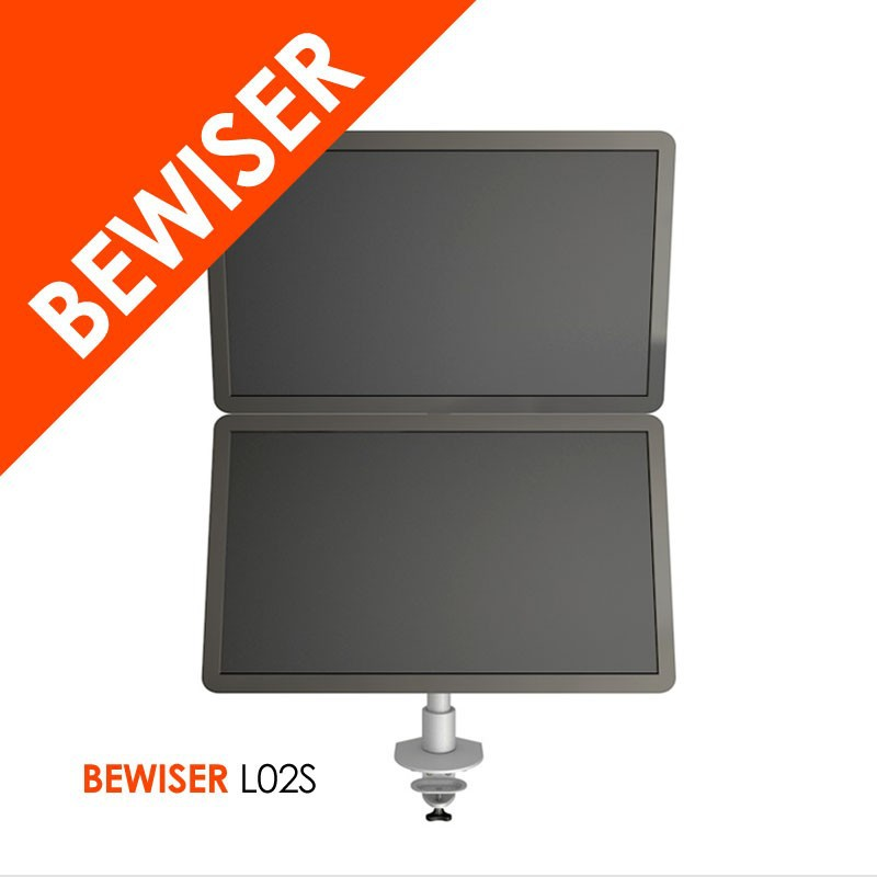 New Flexible Gas Spring Adjustable Control Arm For Double LCD Monitors (BEWISER L02S)