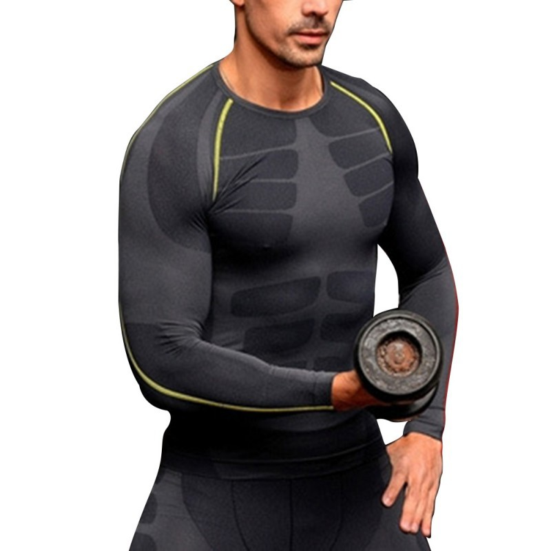 b4cb07479b Get Quotations · Men's Compression Base Layer Tight Top Tee Shirts Under  Skin Sport Gear GYM Wear