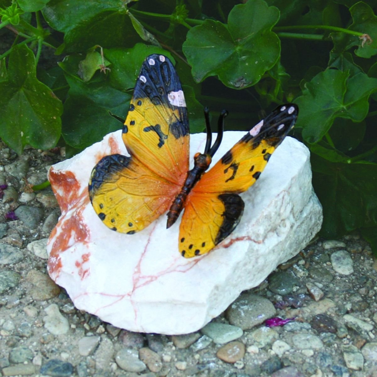 Design Toscano Butterfly Bronze Garden Statue Yellow Butterfly, Multicolored