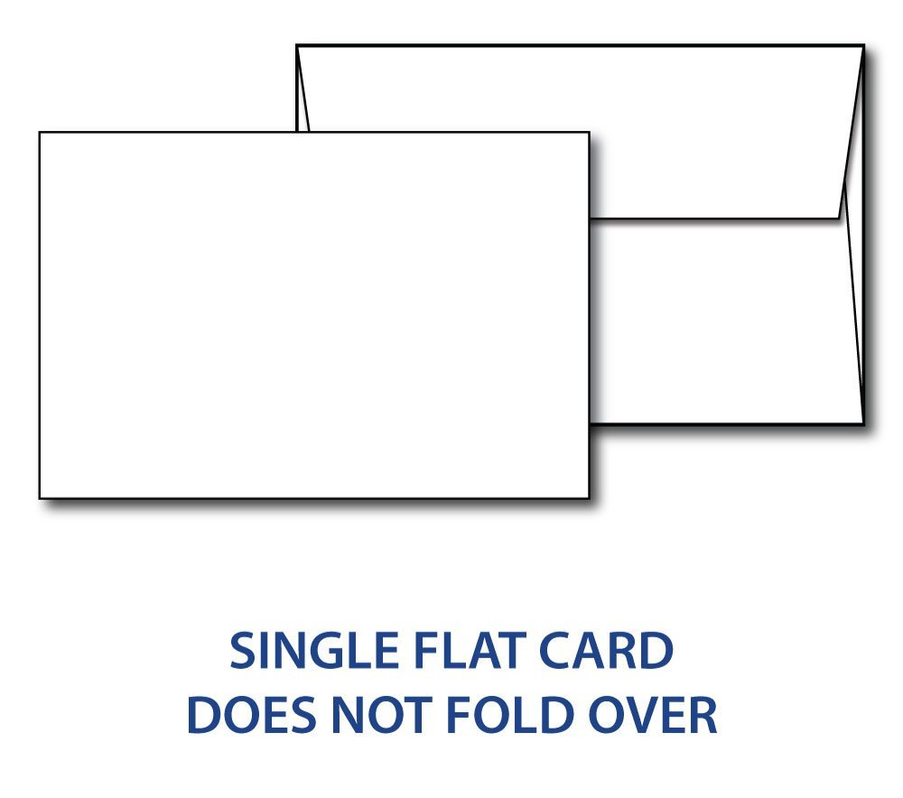"""Heavyweight Blank White 4"""" x 6"""" Cards with Envelopes - 40 Cards & Envelopes"""