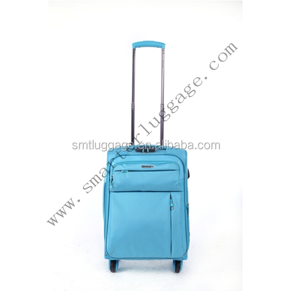 Trendy Polyester/Nylon Spinner Wheeled Suitcase