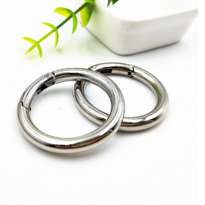 Customized Bag Accessories Brushed Nickel-free Color alloy O Ring