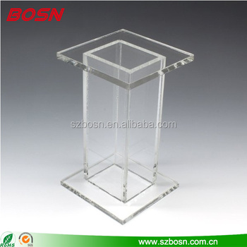 2017 Hot Sell High Quality Acrylic Pedestal Table Lucite Perspex Furniture