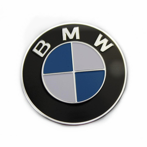 25mm Round CMYK Printing Curved Aluminum Badge for BMW