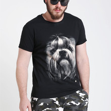 Summer Clothes New Fat Men Loose 3D Printed T-Shirts Custom 100% Cotton Half Sleeve Oversized T Shirts