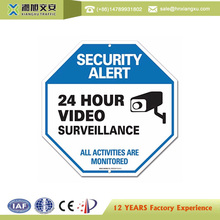 Security Traffic Video Surveillance Warning Cameras Sign Board