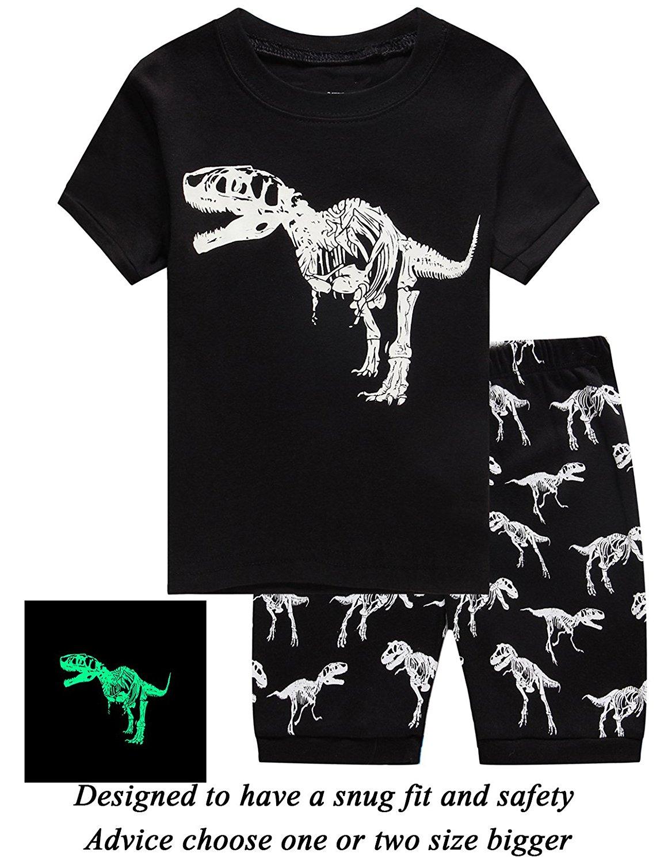 42250377183 Little Pajamas Boys Pajamas Space Glow in The Dark Short Toddler Summer  Clothes Kids Pjs Sleepwear