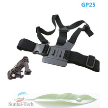 Adjustable Chest Belt/Strap/Harness Mount+3-way adjustment base for Gopro HD Hero4 Hero3+ Hero3 Hero2/SJ4000/YI camera GP25