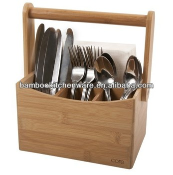 Natürliche Bambus Besteck Caddy - Buy Product on Alibaba.com