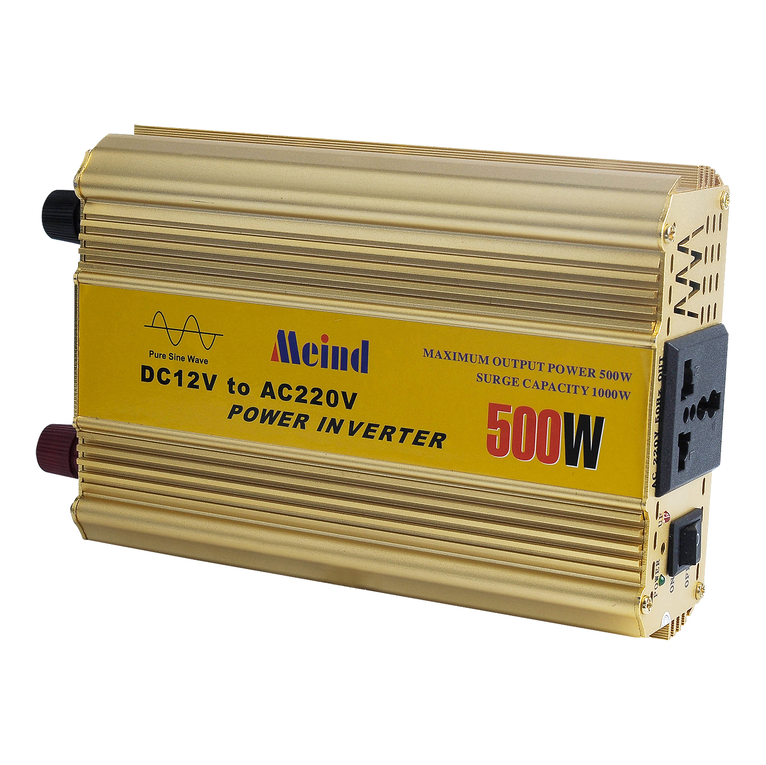 Meind Good Quality DC 12V to AC 220V Power Inverters 500W /600W Output Pure Sine Wave