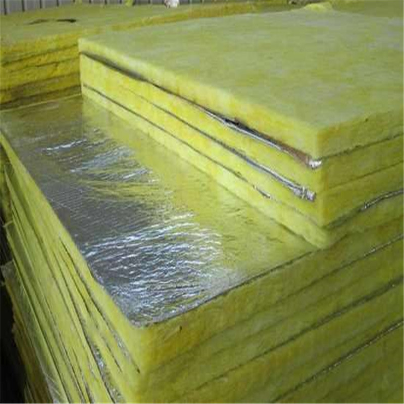 Sound insulation with aluminum foil acoustic glasswool