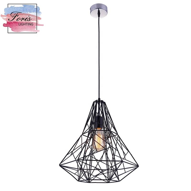 Zhongshan professional manufacturer with ETL for bedroom office hotel kitchen modern decoration vintage black  pendant light