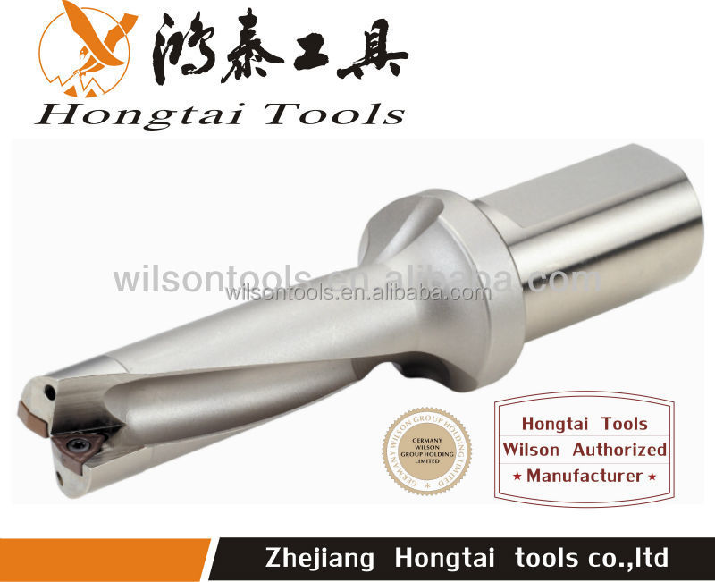 High speed coolant drill with indexable inserts U drill MAX