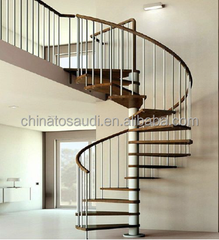 2017 Indoor Used Spiral Staircase Prices / Interior Stair Design / Timber  Tread Spiral Stair