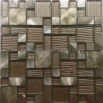 Rinde Rinde Pille Gefieder Muster Metallisches Glas Mosaikfliesen - Mosaik fliesen metallic
