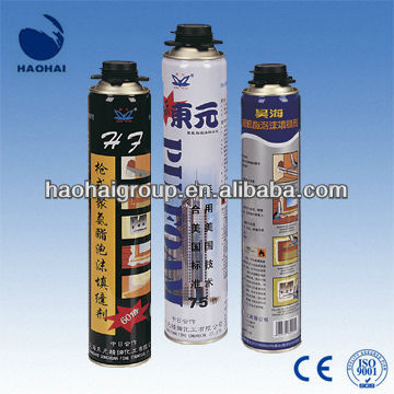 Aerosol Sealing Moisture-curing High Volume Polyurethane Foam Sealant PU foam Factory