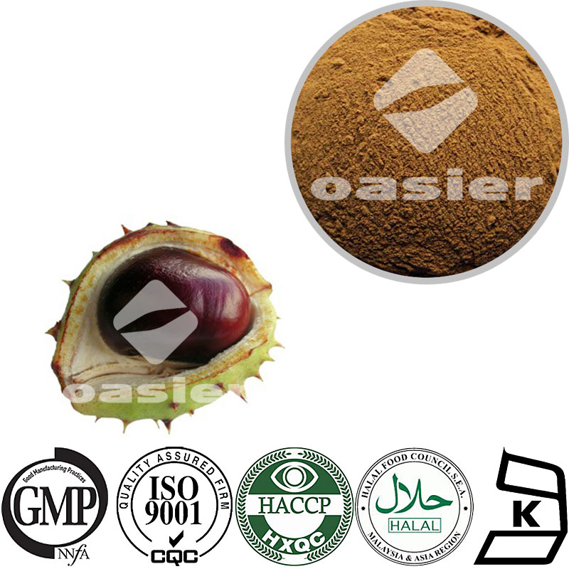 Treat stomach ache Horse Chestnut Extract 20%-98% Aescin seed powder