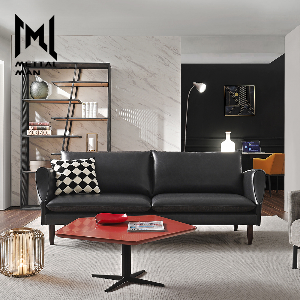 Living Room Lounge Furniture 2 Seater Leather Couch Mini Black Artistic  Nordic Sofas 3 Seater Black Leather Sofa - Buy 2 Seater Leather Couch,Mini  ...