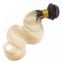 accept paypal 613 blonde hair weave dark roots human hair ombre weave virgin peruvian hair