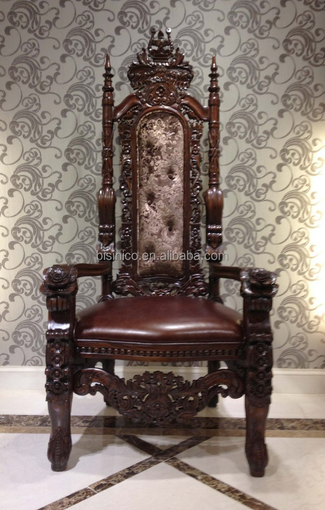 American Style Furniture Sofa Chair,Antique Luxury Real Leather Throne  Sofa,Classic Hand Carved Wood Chair (bf01-xy1008) - Buy Classic Wood Frame  Leather ... - American Style Furniture Sofa Chair,Antique Luxury Real Leather