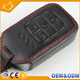 High quality Durable Customize Car Logo Key Case Holder Leather Car Key Cover With 4 Button Leather Car Key Bag for Honda civic