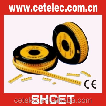 Colorful round clip cable marker, cable marker tube