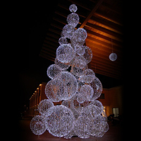 Top selling Christmas led white christmas tree with led light decoration balls light