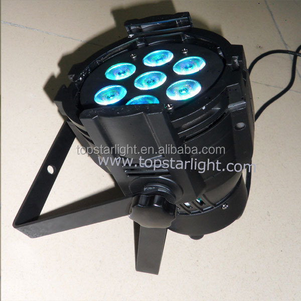 (2017 wholesale)High efficiency indoor LED PAR CAN Light, 7*10W Professional Beam LED Par moving head