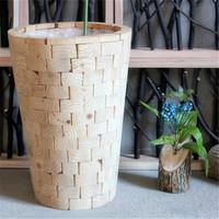 handicraft wood made plant vase unique large vases