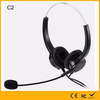 Auhope Factory Manufacture Noise Cancelling Optional Volume Controlling and QD Cord PS3/PS4/Walkie Talkie Wired Headset
