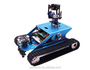 Yahboom DIY G1 wifi aluminum raspberry pi robot tank car coding kit with camera and RC Remote Control for Raspberry PI