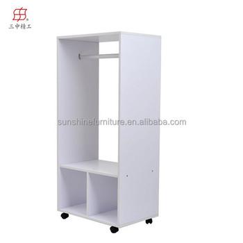 Cheap Modern Wood Llightweight Portable Armoire Wardrobe Closet