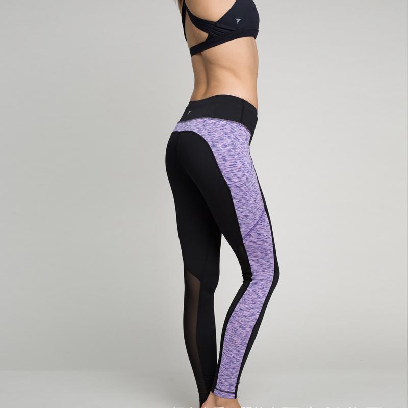 e0bfc80327de8 2016 Sexy Yoga Pants Women Fitness Plus Size Sport Pant Running Gym Workout  Clothes Yoga Leggings High Waist Both Side Patchwork