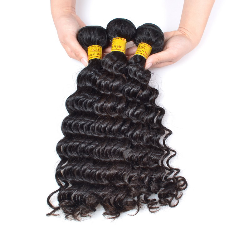 KBL Various Length 8 14 18 30 Inch Peruvian Hair Weaves Pictures 8a 100g Cuticle Aligned Peruvian Deep Wave She's Happy Hair