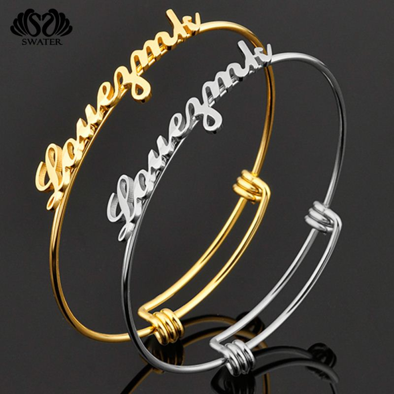 Fashion Jewelry Stainless Steel Expandable Adjustable Wire Bangle Bracelet Wholesale