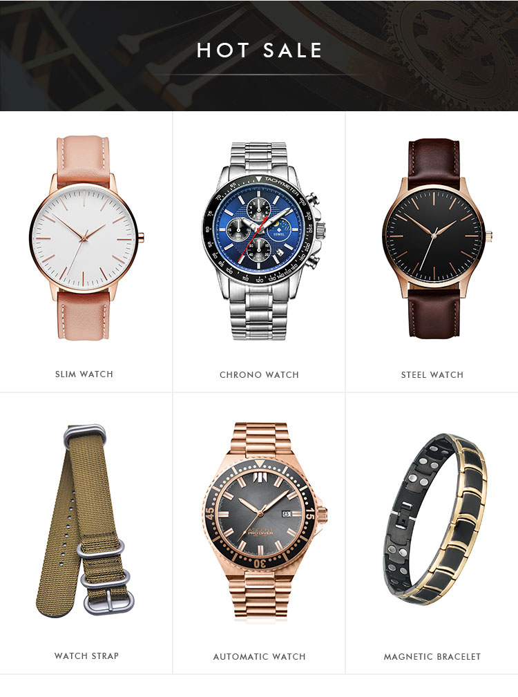 2019 High Quality High-end Luxury 100m Water Proof Japanese Automatic Movement Stainless Steel Case Wrist Watch for Men
