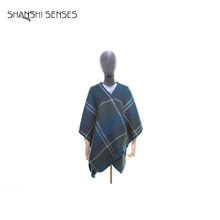 New fashion style plaid girls stoles and shawls