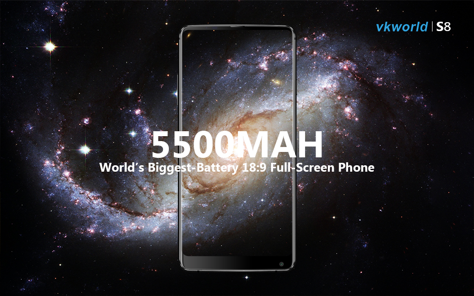 Hot Sale VKWORLD S8 5.99inch mobile phone touch screen 5500 mah 4+64G ROM smartphone 4G Cheap cell phone with Face recognition