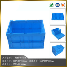Blue Foldable Storage Plastic Crates Folding Crate