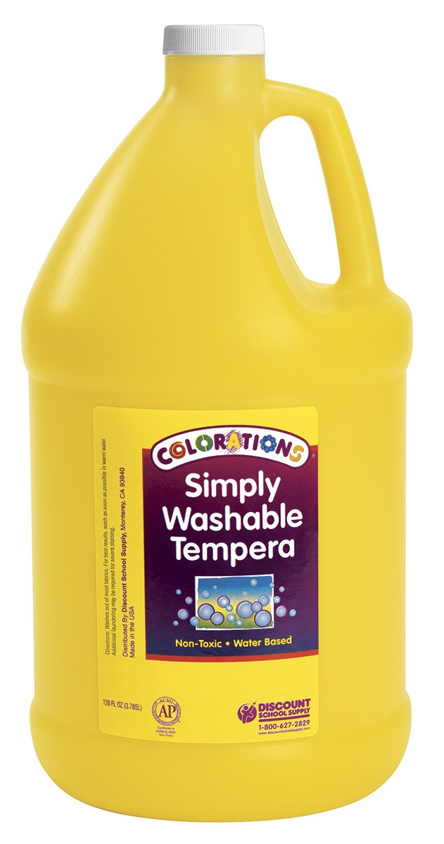 Colorations GWSTYE Colorations Simply Washable Tempera Paint, Yellow