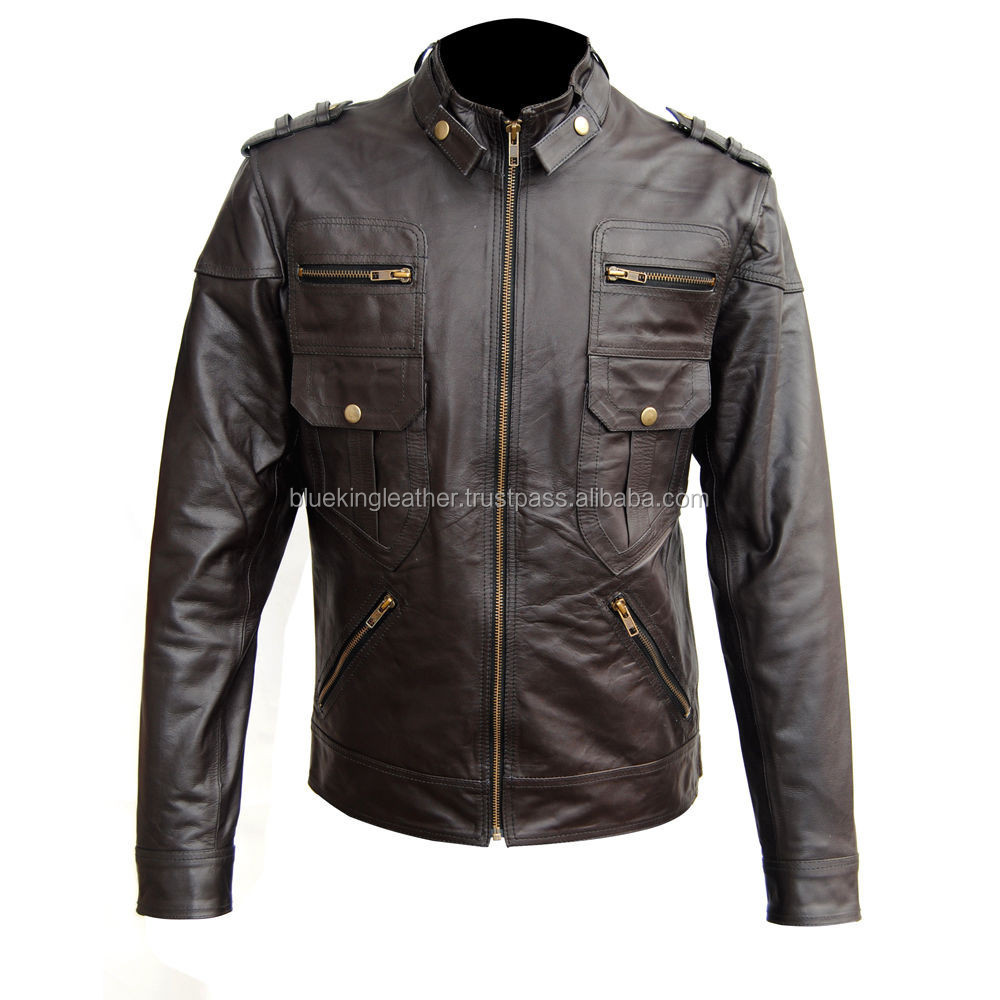 Hot Stylish Fashion Real Leather Jacket black sheep napa leather jackets