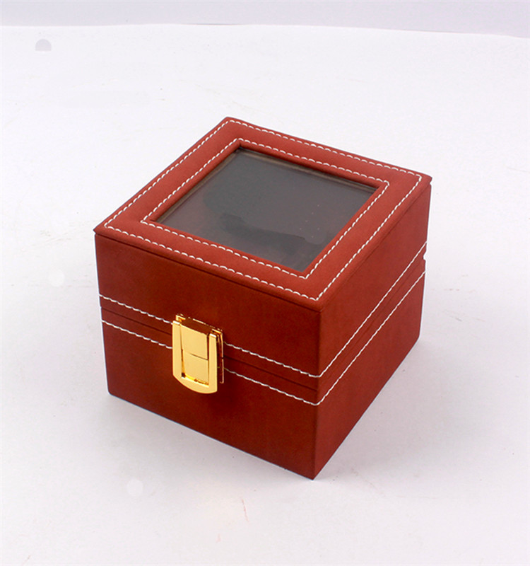 Custom clamshell gift box with lock clear window for watch