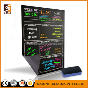 Wholesale Black magnetic chalkboard dry erase board style for Refrigerator kitchen weekly or monthly planner