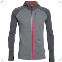 tech performance breathable Hooded Full-Zip performance fitness sports Shirt zipper jaccket online shopping wholesale